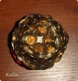 Цветок-лилипут из монет ,высота 12 см фото 4