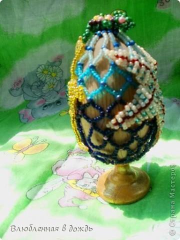 А это яйцо, было сделано, несколько лет назад, но я все забывала его сфотографировать. На самом верху, у нас черепашка, Чуть ниже- морская звезда: фото 5