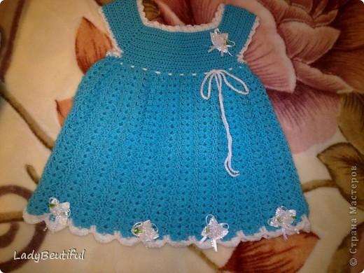вязаное платьице для девочек