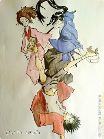 рисунки по аниме samurai champloo фото 2