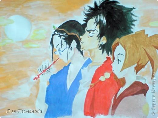 рисунки по аниме samurai champloo фото 1