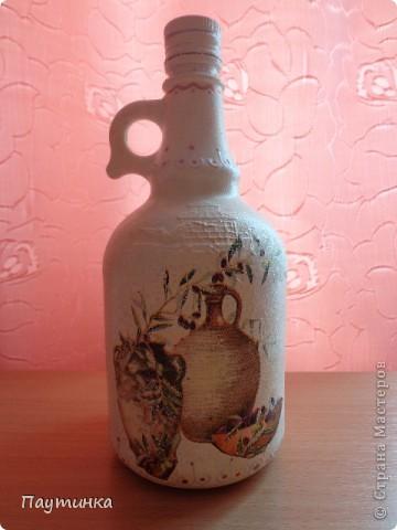 Бутылочка из-под оливковой олии. фото 1