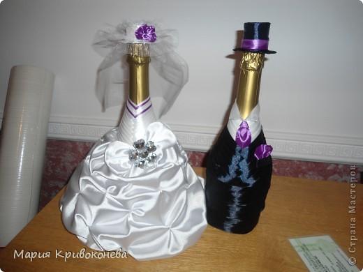 Вот такую парочку я сделала к свадьбе моего брата. Это мой первый опыт в свадебном декоре. Очень кстати увлекло. Спасибо gud за МК http://stranamasterov.ru/node/225893?tid=451%2C1303, благодаря которому появилось представление о том, как это сделать фото 1