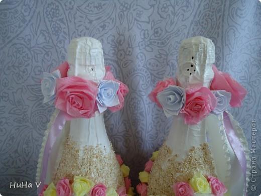 Бутылочки свадебные фото 2