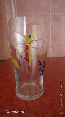 вот попробовала точечную роспись вот такой стаканчик вышел у меня  фото 4