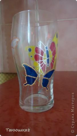 вот попробовала точечную роспись вот такой стаканчик вышел у меня  фото 5