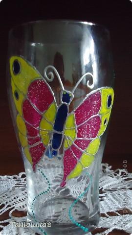 вот попробовала точечную роспись вот такой стаканчик вышел у меня  фото 3