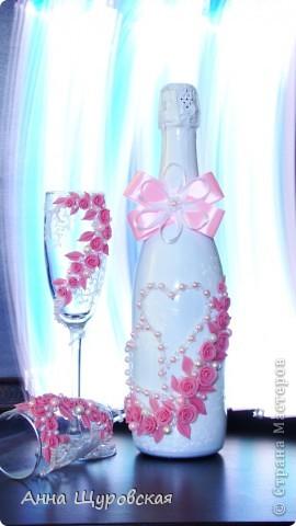 Идею в оформлении бутылок взяла у Ирины Ивановой.я ее поклонник и большое спасибо ей за  ее  прекрасные идеи и помошь как делать листики,цветочки... фото 5