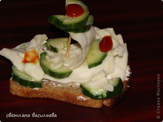 бутерброд для мамы фото 1