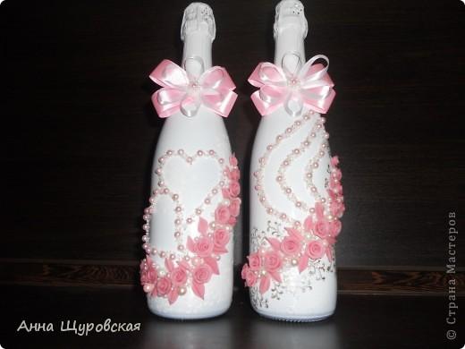 Идею в оформлении бутылок взяла у Ирины Ивановой.я ее поклонник и большое спасибо ей за  ее  прекрасные идеи и помошь как делать листики,цветочки... фото 4