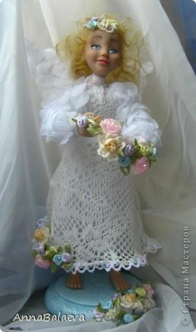 Ангелочек в райском саду (сделан на заказ) фото 2