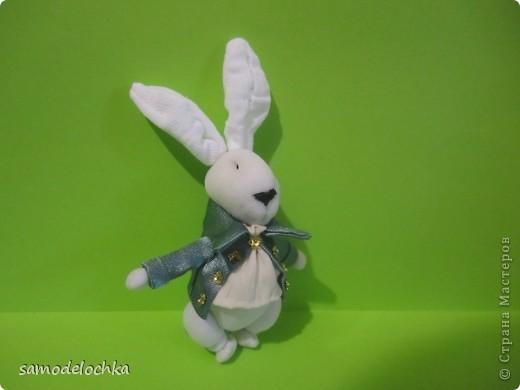 """""""Зайчик с пальчик"""".Белый кролик фото 3"""