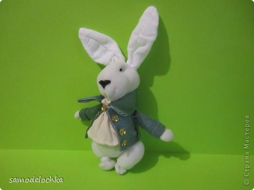 """""""Зайчик с пальчик"""".Белый кролик"""