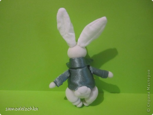 """""""Зайчик с пальчик"""".Белый кролик фото 2"""
