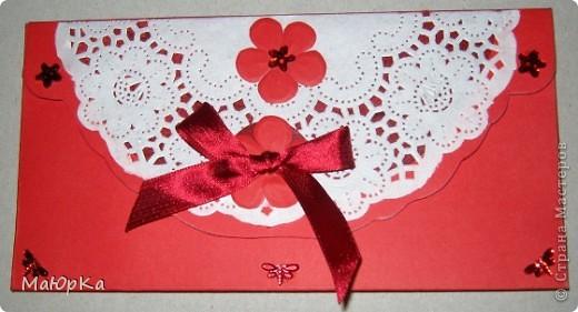 Неожиданное приглашение на свадьбу подтолкнуло к созданию конвертика. фото 1