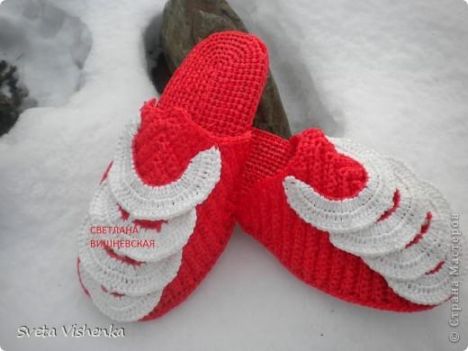 МК . Красные шлёпки - тапки . фото 1