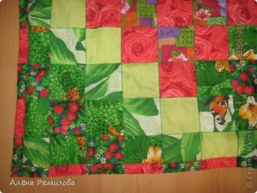 """плед """"Зеленый сад"""" 150*200 на синтепоне фото 3"""