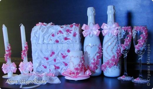 Идею в оформлении бутылок взяла у Ирины Ивановой.я ее поклонник и большое спасибо ей за  ее  прекрасные идеи и помошь как делать листики,цветочки... фото 1