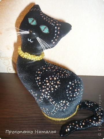 Теперь и в моей коллекции поделок появилась вот такая кошка! Я думаю, что никого кошки  steplin (http://stranamasterov.ru/node/379131?c=favorite), Ольги Качуровской ( спасибо за МК http://stranamasterov.ru/node/368774?c=favorite) и Марины Седовой (http://stranamasterov.ru/user/88842) не  оставят  равнодушными. Вот и я не исключение. Теперь эта кошка стильно вписывается в  интерьер. фото 1