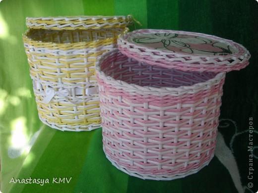 Плетеные корзинки из бумаги своими руками
