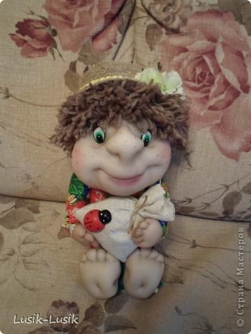 Это Федюша, мой первый домовенок по МК Оксаны Третьяковой http://stranamasterov.ru/node/164787?tid=451%2C1034. Не смогла пройти мимо.... за что ей огромное спасибо!!!! фото 1