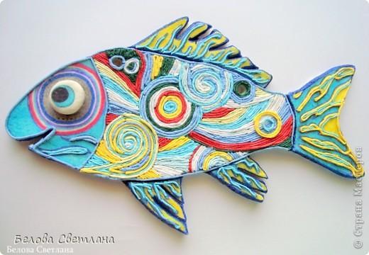 """На Хомячке началось новое общее задание на тему """" Рыбаки и рыбки""""...  http://homyachok-scrap-challenge.blogspot.com/ Можно делать работы на эту тему в любой технике, смотрите и другие потрясающие работы дизайнеров и присоединяйтесь со своими умениями!!!! Я же сотворила рыбку из солёного теста, разукрасила её и впервые попробовала волшебно интересную технику Пейп-арт от Татьяны Сорокиной: http://stranamasterov.ru/user/151613 Спасибо Вам за вдохновляющее творчество и море позитива! фото 1"""
