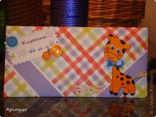 конвертик для девчушки)))Конверты делала из бумаги и салфеток фото 2