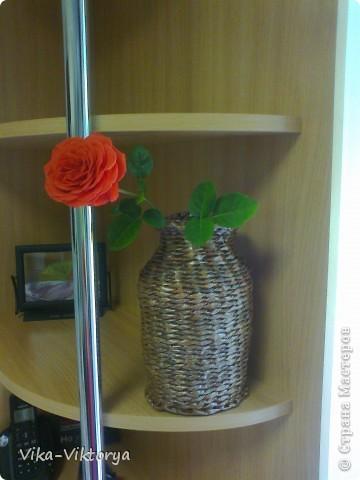 Доброго всем времени суток!  Принравилась мне форма кофейной баночки и решила из неё сделать вазочку.  Вот что у меня получилось. фото 2