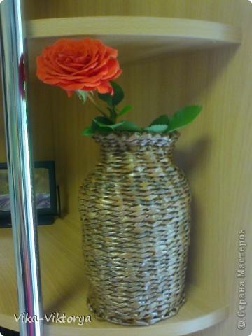Доброго всем времени суток!  Принравилась мне форма кофейной баночки и решила из неё сделать вазочку.  Вот что у меня получилось. фото 3