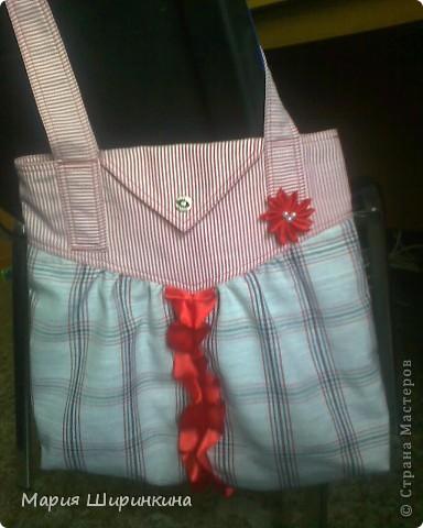 Что-то потянуло меня на разные сумки, подсумки... Шила  и сразу знала: подарю хорошему человеку! Вот радости-то было! фото 1