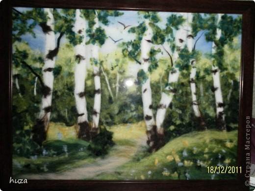 "Картина ""Березовый лес"""