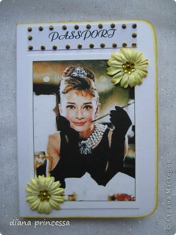 """обложка на паспорт """"Одри у тифани"""" фото 1"""