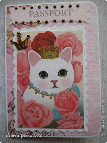 """обложка на паспорт""""Кошечки"""" фото 1"""