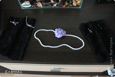 Бутылочка, повязка на голову и перчатки фото 2