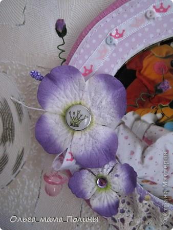 набор из двух рамочек в девочкину комнату в сиреневом цвете фото 2