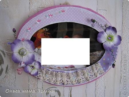 набор из двух рамочек в девочкину комнату в сиреневом цвете фото 1