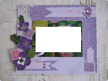 набор из двух рамочек в девочкину комнату в сиреневом цвете фото 3