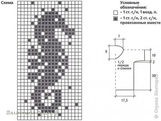 летняя кофточка в технике филейного вязания фото 7