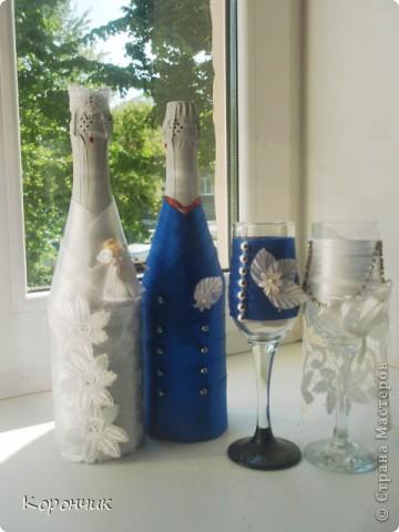 Бокалы на свадьбу, в июне из них  пили шампанское молодожены. фото 2