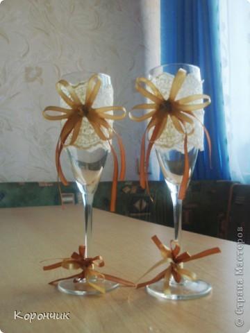 Бокалы на свадьбу, в июне из них  пили шампанское молодожены. фото 3