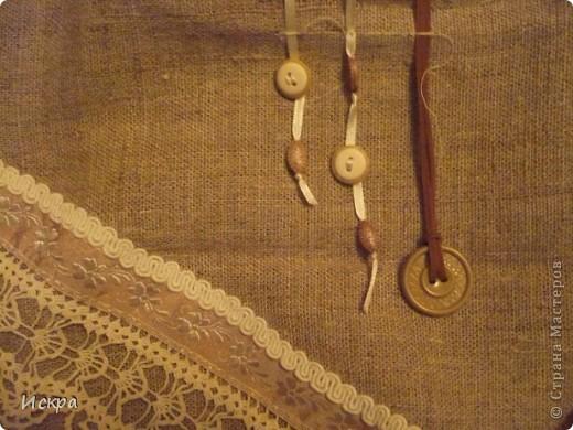 сумка за вечер (из остатков мешковины и сорочечной ткани) фото 5