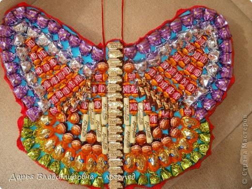 Бабочка из конфет своими руками пошаговое фото для начинающих