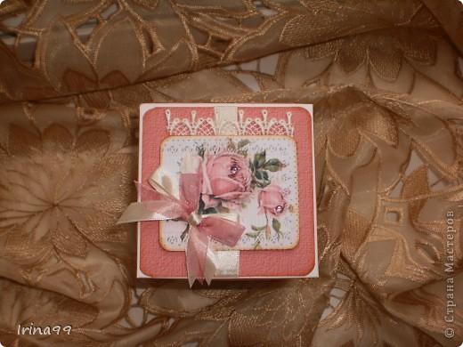 Коробочка сделана на заказ для подруги, как сюрприз. Выбрала свои любимые розы... фото 2
