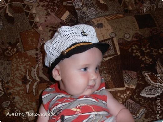 Гардероб Мастер-класс Вязание крючком Мой маленький капитан панамка для мальчика Пряжа Пуговицы Сутаж тесьма