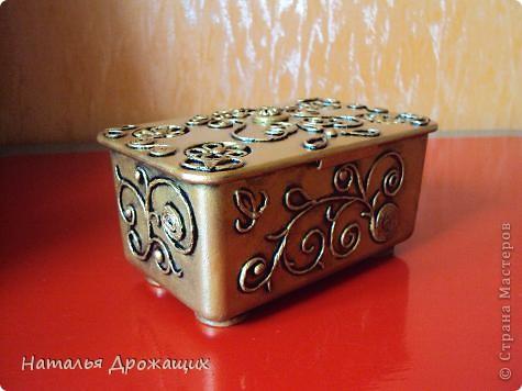 Декор предметов Аппликация из скрученных жгутиков Шкатулка фото 1