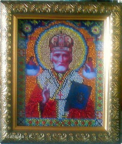 """Икона """" Николай Чудотворец """" . фото 2"""