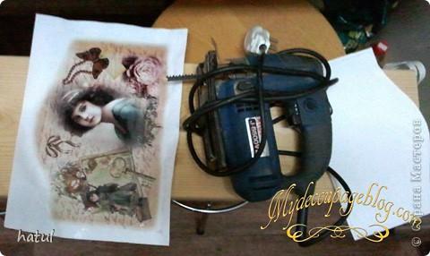 Мастер-класс по декору винтажной ключницы фото 2