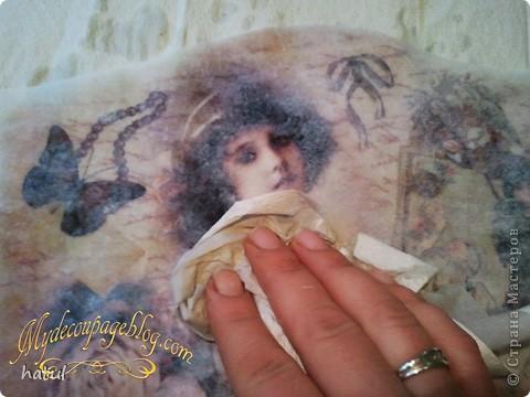 Мастер-класс по декору винтажной ключницы фото 15