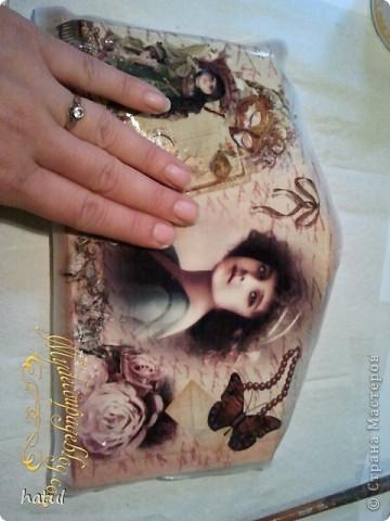Мастер-класс по декору винтажной ключницы фото 19