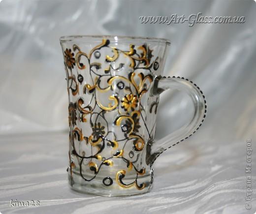Чайная чашка. Роспись стекла. фото 3